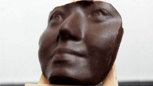 3D printed chocolate face