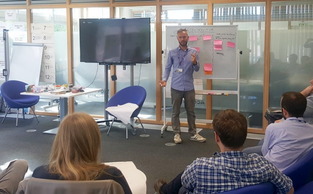 Jon talks to a group at a BA Academy session in Leeds