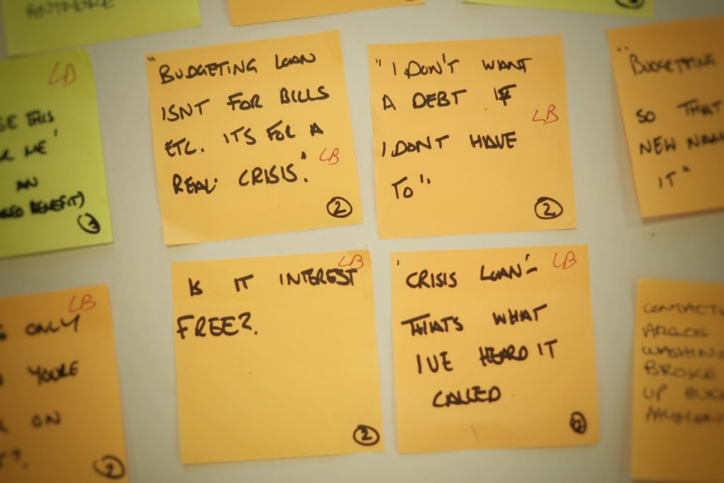 Insight from user research undertaken by the Apply for a Budgeting Loan service team