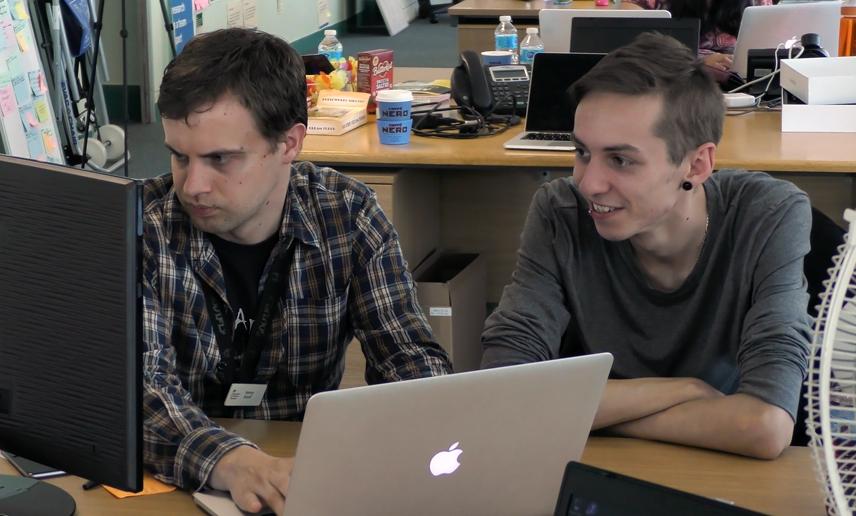 Henry and fellow developer Ed