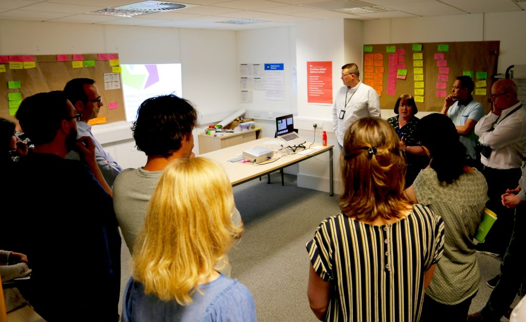 A show and tell during the design sprint
