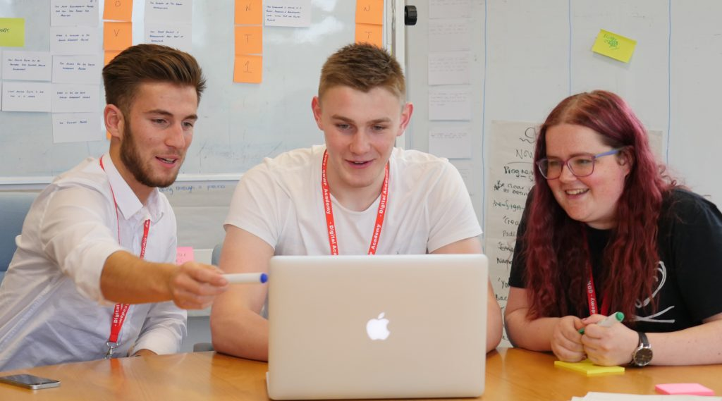 Lewis, George and Emily (L-R), Digital Interns