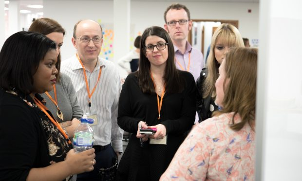 Rachel and colleagues at the Cross Government Hack in Leeds