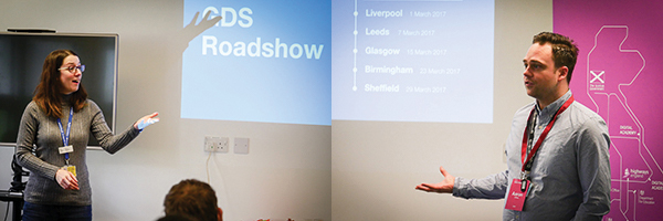 Aaron and Becky host the Newcastle GDS Roadshow