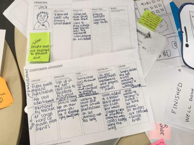 A customer journey and user persona from GovJam