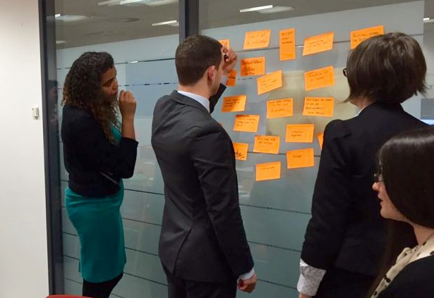 The team during a journey mapping session
