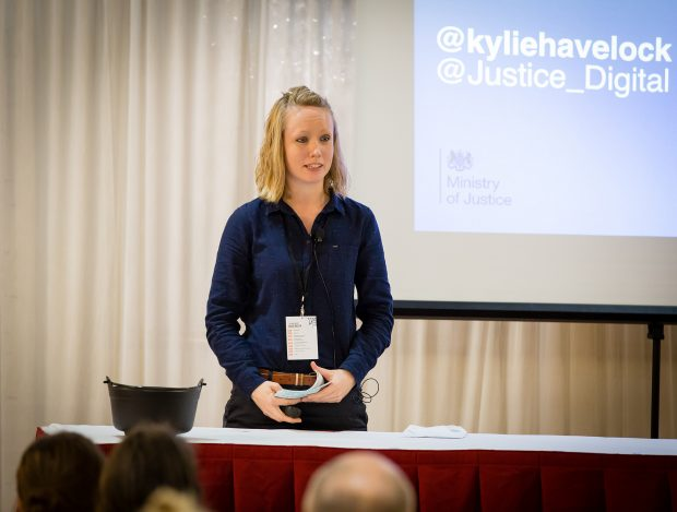 Kylie Havelock from Ministry of Justice spoke at the Product Design event