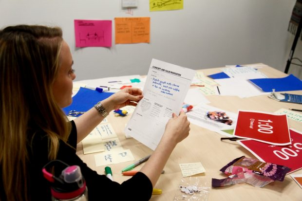A participant gets creative during the workshop
