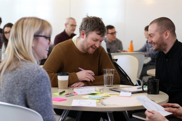 Some of the DWP Digital service design community at a community day