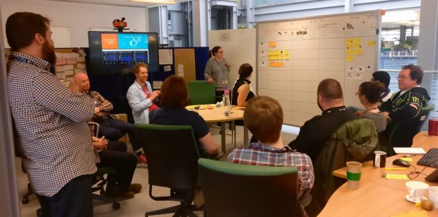 The Get Citizen Income Information team discuss user research findings
