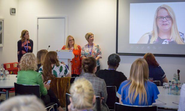 Lisa, Jane and Julie presenting at Women in Digital