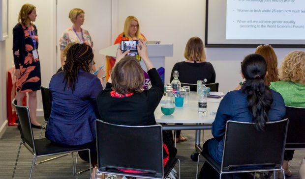 Lisa, Julie and Jane tell the Digital Voices story at Women in Digital