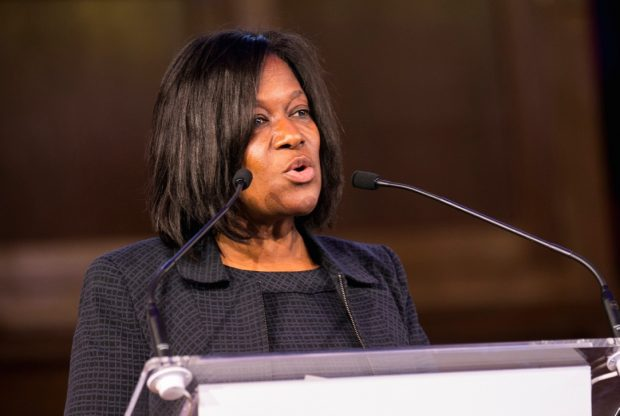 Jacky Wright, HMRC giving a keynote presentation at an event