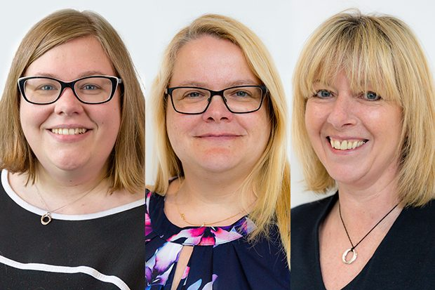 Deb Blanchard, Jane Gwyer and Jane Hall = three of Dwp Digital's Digital Voices