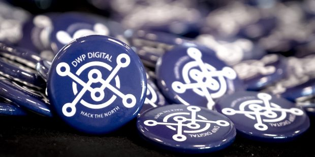 Photos of Hack the North pin badges