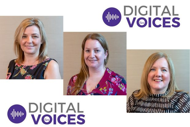 Emma Murray, Hazel Norris and Collett Bellamy - 3 of the DWP Digital Voices