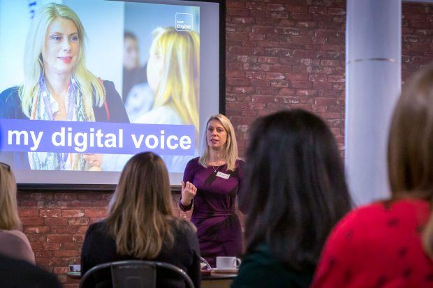 Sue Griffin speaking to the Digital Voices