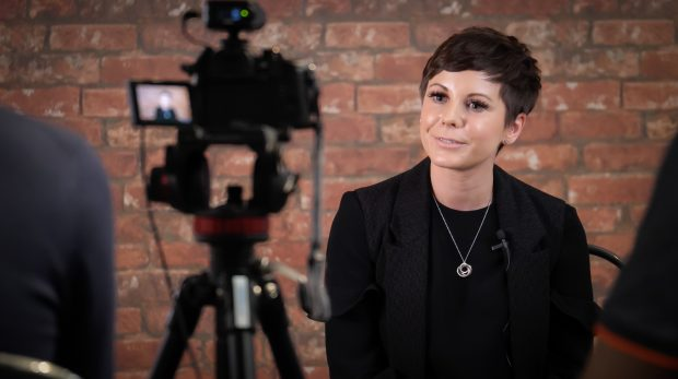 Angela being filmed as part of the Digital Voices programme