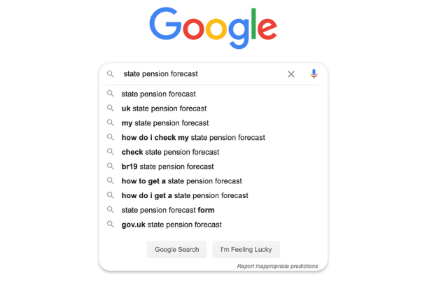 state pension forecast google search