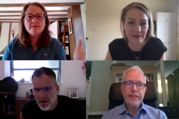 Panelists from the techUK virtual conference